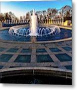 Washington D.c. - Fountains And World Metal Print