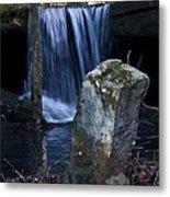 Waterfall At The Ruins Metal Print