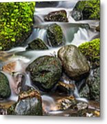 Waterfall Mount Rainier National Park Metal Print