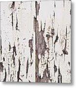 Weathered Paint On Wood Metal Print