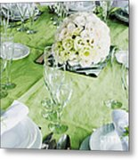 Wedding Table Metal Print