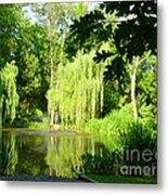 Weeping Willow Pond Metal Print