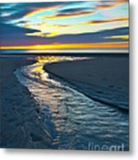 Wells Beach Maine Sunrise Metal Print