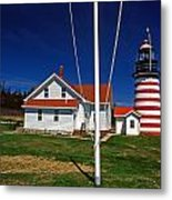 West Quoddy Lighthouse Metal Print