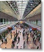 West Railway Station In Beijing Metal Print