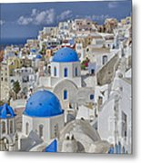 White Buildings With Steep Slope Metal Print