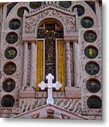 White Cross At St Sophia Metal Print