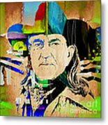 Willie Nelson Collection Metal Print