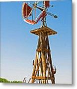 Wind Mills In West Texas Metal Print