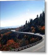 Winding Curve At Blue Ridge Parkway Metal Print