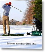 Winter Golf Metal Print