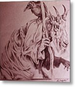 Wise Old Goat Metal Print