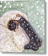 Wishing Ewe A White Christmas Metal Print