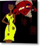 Women's Scorn Metal Print by Andre Carrion