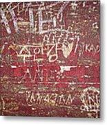Wood Graffiti Metal Print