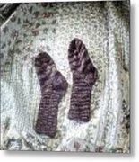 Woollen Socks Metal Print