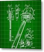 Wrench Patent 1915 - Green Metal Print