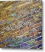 Writing On The Wall Metal Print