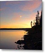 Yellowstone Lake Sunset Metal Print