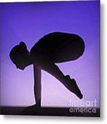 Yoga Crane Pose Metal Print