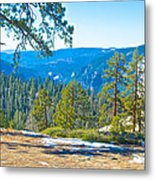 Yosemite Valley Mountainside From Sentinel Dome Trail In Yosemite Np-ca Metal Print