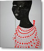 Dinka Bride - South Sudan Metal Print