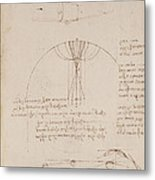 Drawings By Leonardo Da Vinci Metal Print