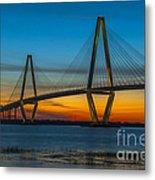 Arthur Ravenel Jr. Bridge At Sunset Metal Print