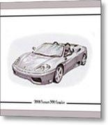 Ferrari 360 Modena Spyder Metal Print