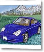2002 Porsche 996 Metal Print