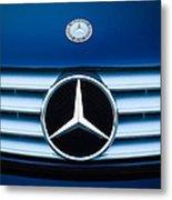 2003 Cl Mercedes Hood Ornament And Emblem Metal Print