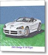 2005 Dodge V-10 Viper Metal Print