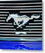 2007 Ford Mustang Grille Emblem Metal Print