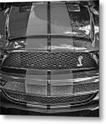 2007 Ford Shelby Gt 500 Mustang Bw Metal Print