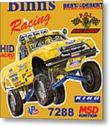 2008 Ford F-150 Racing Poster Metal Print