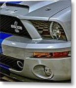 2008 Ford Mustang Shelby Grill Headlight Metal Print