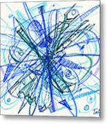 2010 Abstract Drawing 21 Metal Print