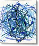 2010 Abstract Drawing 22 Metal Print