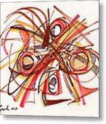 2010 Abstract Drawing 23 Metal Print