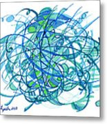 2010 Abstract Drawing 30 Metal Print