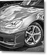 2010 Chevy Corvette Grand Sport Bw Metal Print