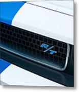 2011 Dodge Challenger Rt Grille Emblem Metal Print by Jill Reger