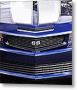 2012 Camaro Blue And White Ss Camaro Metal Print