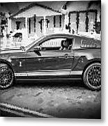 2013 Ford Mustang Shelby Gt 500 Bw Metal Print
