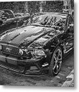2013 Ford Shelby Mustang Gt 5.0 Convertible Bw  Metal Print