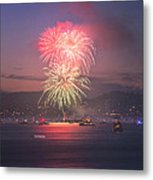 2014 4th Of July Firework Celebration.  Metal Print