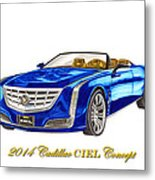 2014 Cadillac Ciel Concept Metal Print