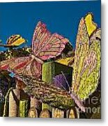 2015 Rose Parade Float Of Butterflies 15rp045 Metal Print