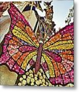 2015 Rose Parade Float With Butterflies 15rp043 Metal Print