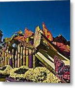 2015 Rose Parade Float With Butterflies 15rp044 Metal Print